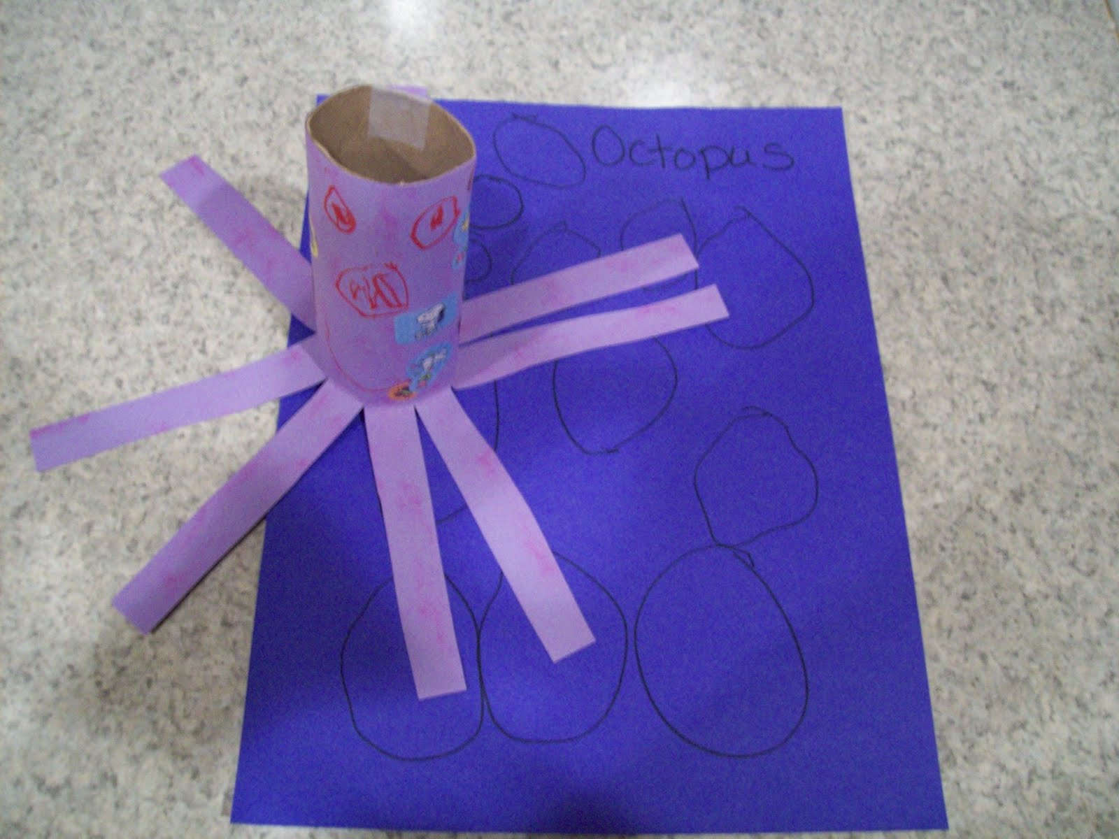 O Is For Octopus Learning The Letter O Craft