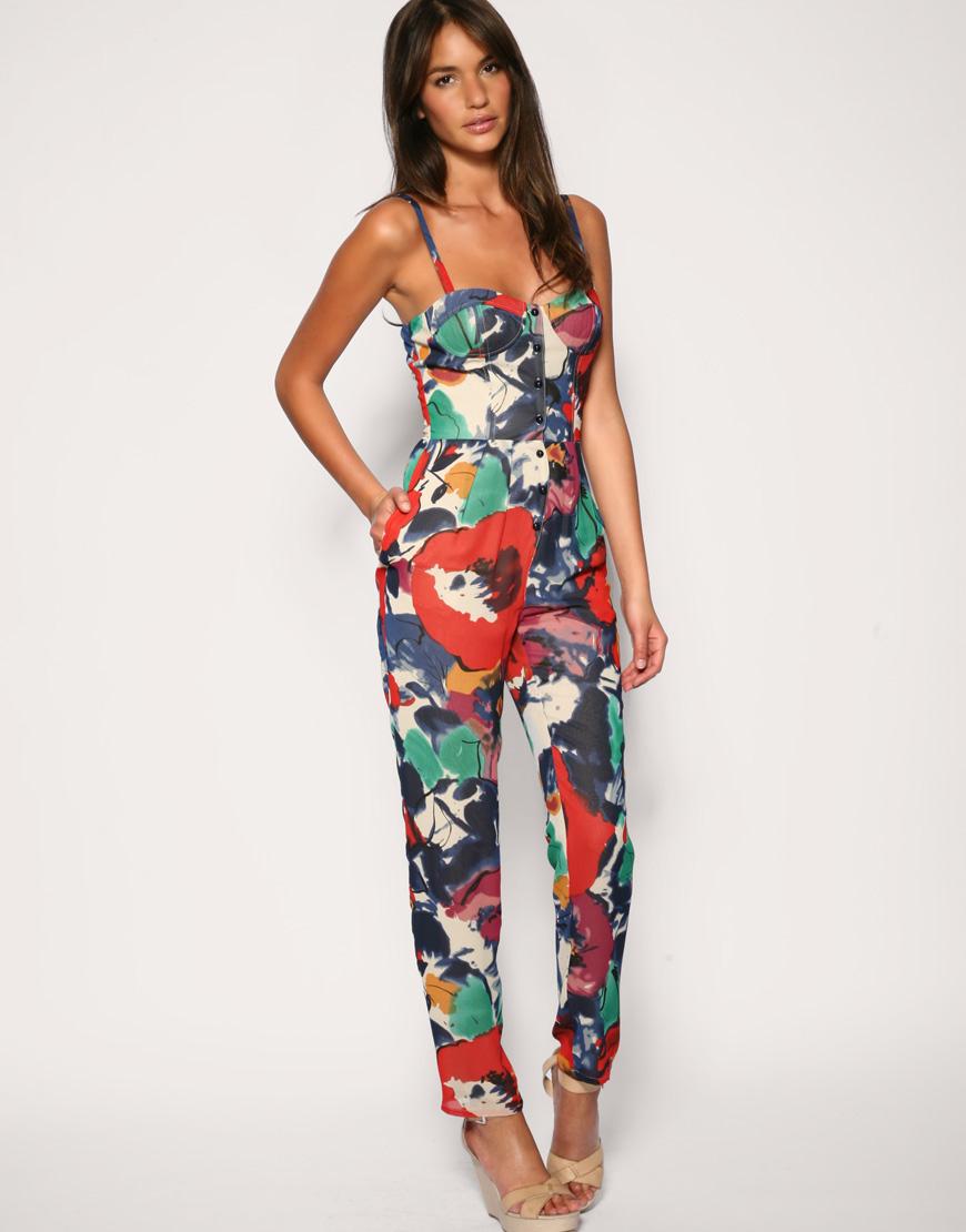 3e9adb6e025f ASOS Floral Fusion Jumpsuit