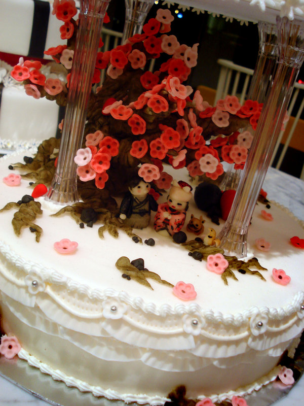 Wedding Cakes With Sakura Flower Food And Drink