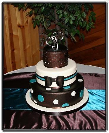 Chocolate And Turquoise Wedding Cakes Decoration