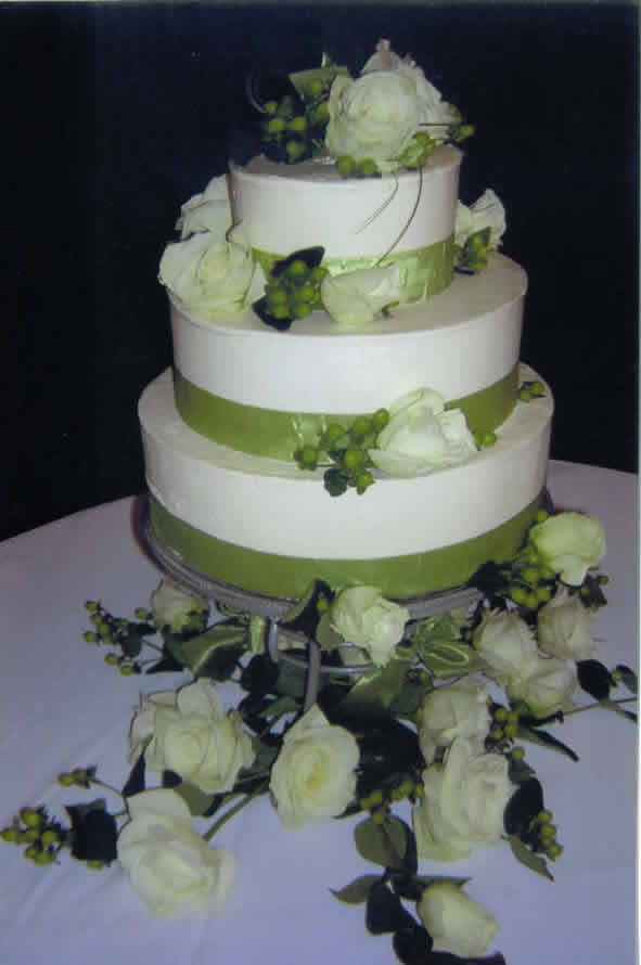 small wedding cakes with ribbon and toppers food and drink. Black Bedroom Furniture Sets. Home Design Ideas