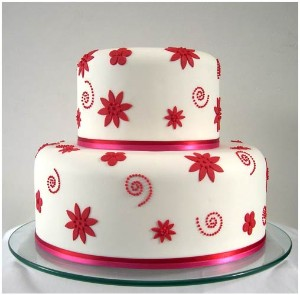 Lily S Cakes And Breads Red And White Wedding Cakes