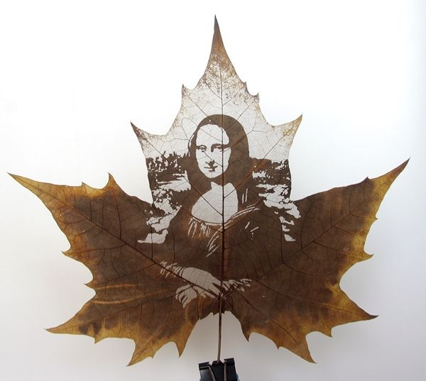 13 Stunning leaf carving artwork