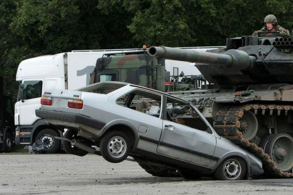 What will happen if a tank will pass on your car: 07