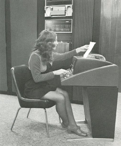 Retro office girls