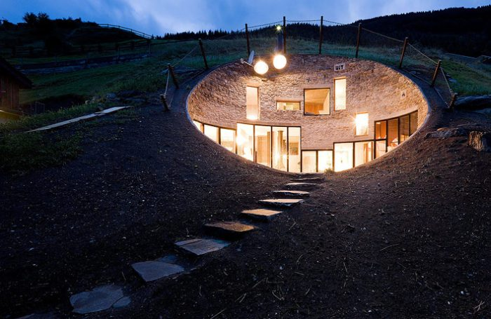 Cool house inside the hill