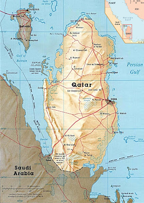 kart over qatar Livet mitt i Qatar: Kart over Qatar kart over qatar