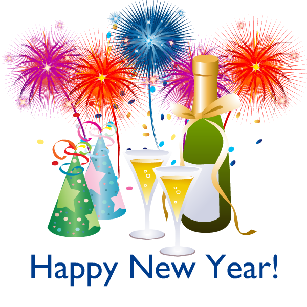 merry christmas and happy new year clip art free - photo #48