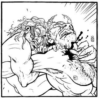Beowulf by AyatoKamina11 on DeviantArt |Beowulf Fighting Grendel Drawing
