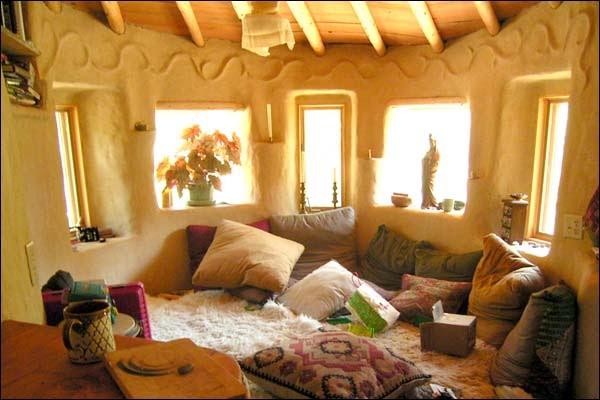 pillow+room Earthbag House Interior Design on bamboo house interior design, wood house interior design, books house interior design, adobe house interior design,