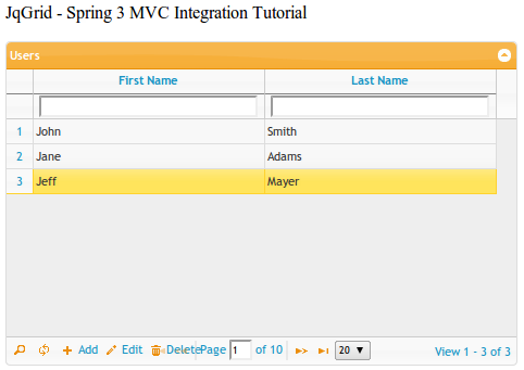 Spring Pagination Tutorial