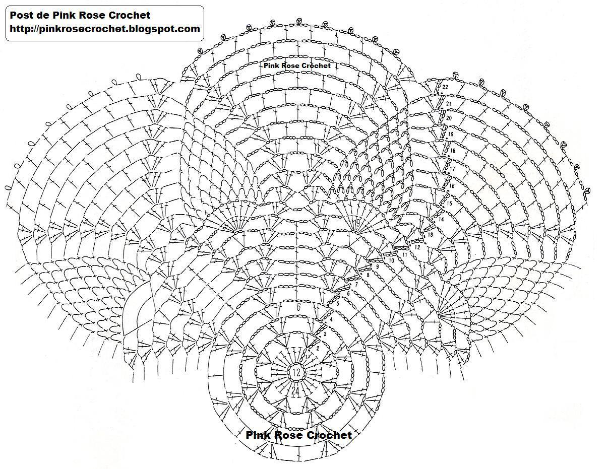 pineapple crochet doily diagram of a building for lan networks pink rose toalhinha abacaxis