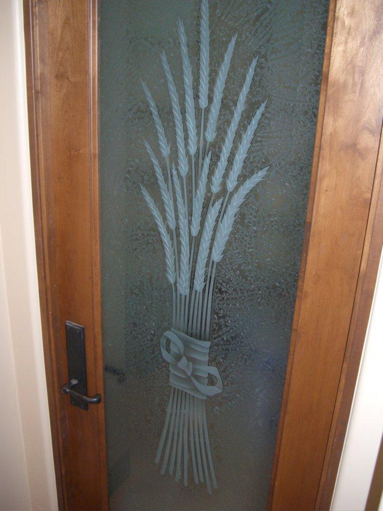 Sans Soucie Art Glass Studios Inc Pantry Door Glass