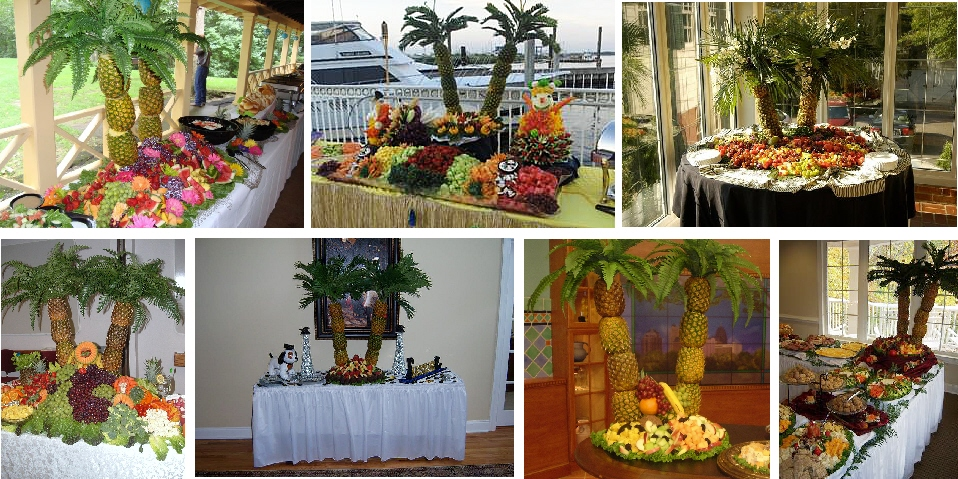 Tropical Fruit Platter For A Beach Wedding: DMY Home Decors & Gift: Wonderful Fruit Buffet Ideas