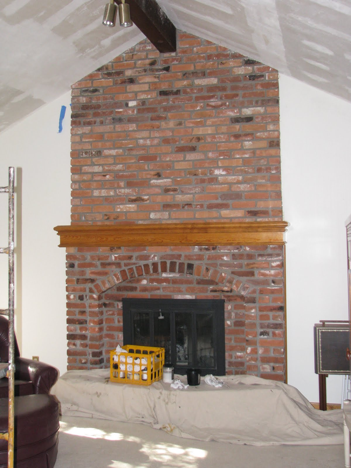 Let us bring your brick fireplace into this decade ...