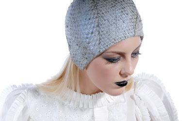 73efe293ac5 Pearlescent Nile Perch fish skin cloche helmet by Jasmin Zorlu. Photo by  Rudi Amedeus.