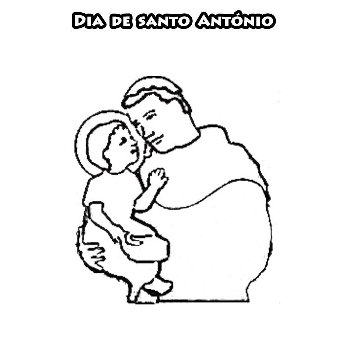 dbaf983fb6c Colorir e Colorir  Santo António para Colorir - Desenhos de Santos ...