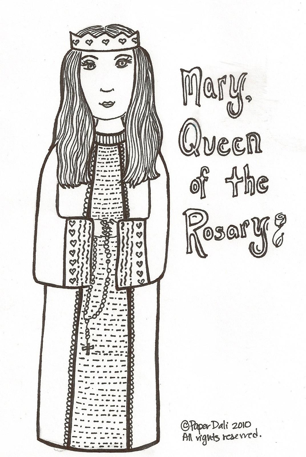 Paper Dali Mary Queen Of The Rosary Maria La Reina