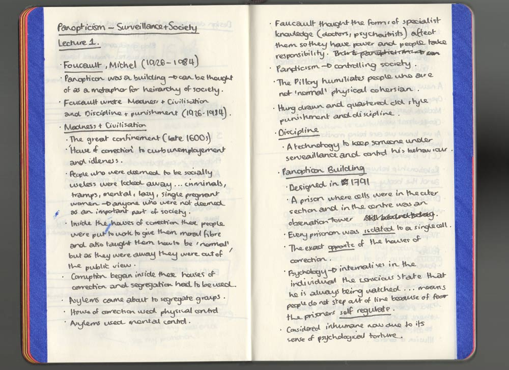 Hazel Contextual & Theoretical: Panopticism - Surveillance
