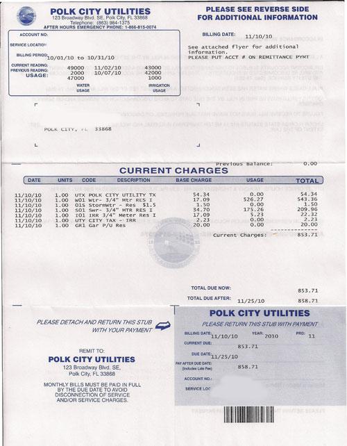 Concerned Citizens of Polk City: November 2010
