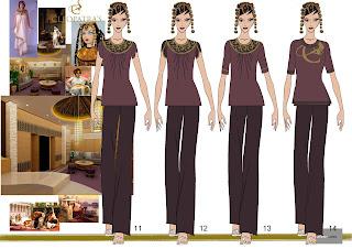 Sketches work samples massage therapists 39 uniform for Spa uniform dubai