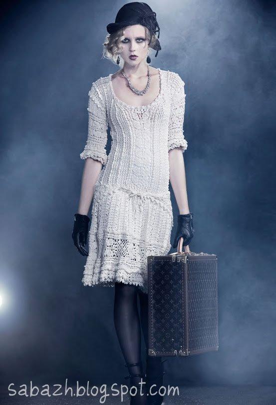Вязанные платья винтаж
