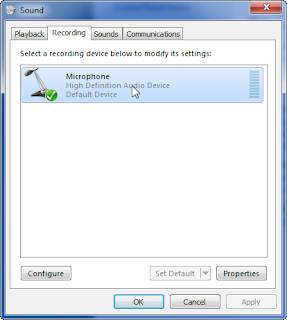 Howfunky com: Update - Windows 7 - Microphone control - where is it?