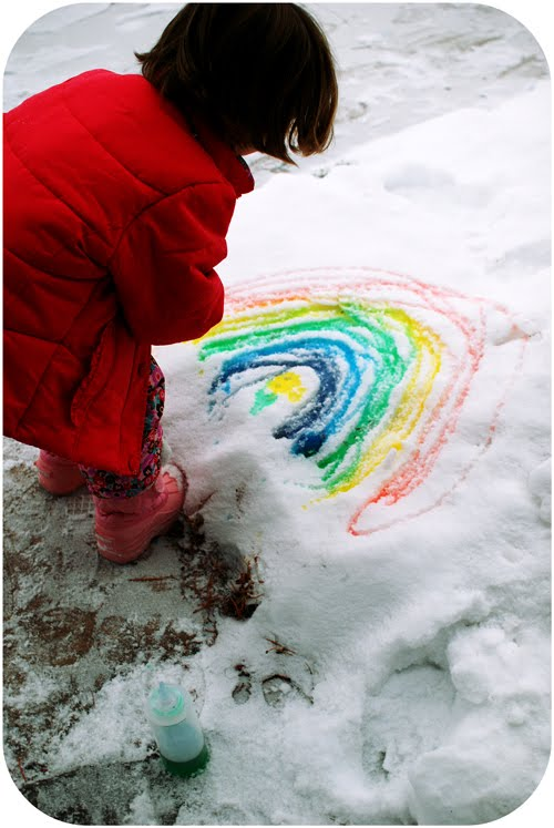 Snow Day Food Coloring Paint