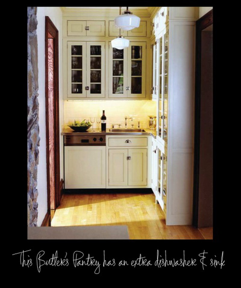 Architectural Designs Elegant White Kitchen Pantry