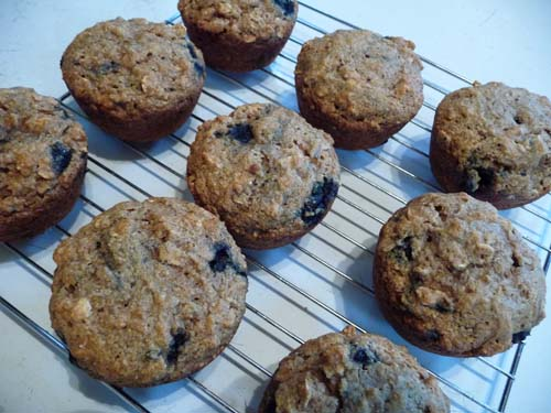 Veggie burgher happy herbivore blueberry oatmeal muffins - Garden lites blueberry oat muffins ...