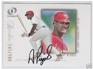 Collecting Pujols 2001 Fleer Legacy