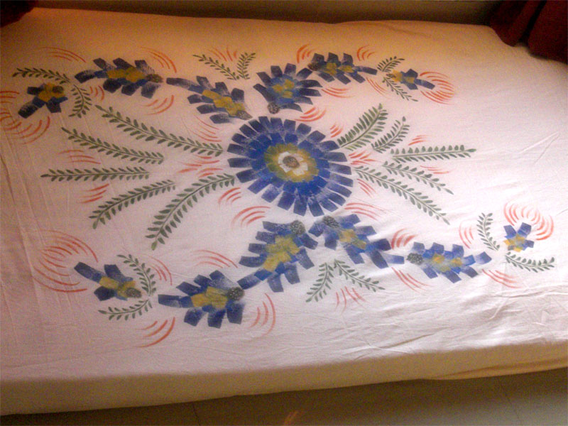 Fabric Painting Designs On Bed Sheets Video Traffic Club