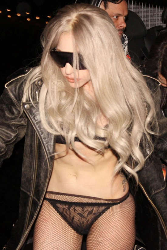Lady Gaga string transparent photo