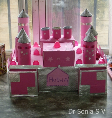 Cards crafts kids projects 11 1 10 12 1 10 for Castle made out of cardboard