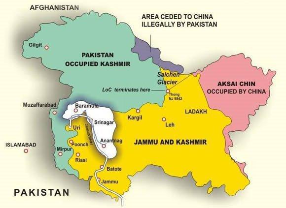 Buy Jammu & Kashmir Map in Vinyl Material at a good price  Jammu And Kashmir World Map