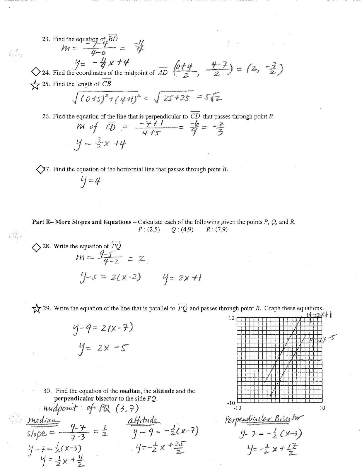 Jiazhen's Geometry: Final Review Sheet Answers are here!
