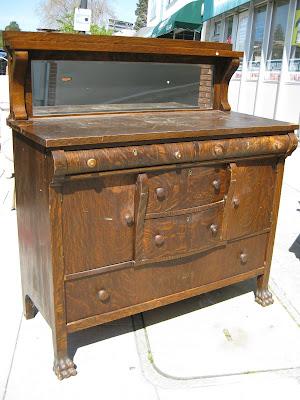 Uhuru Furniture Amp Collectibles Sold Tiger Oak Buffet 160