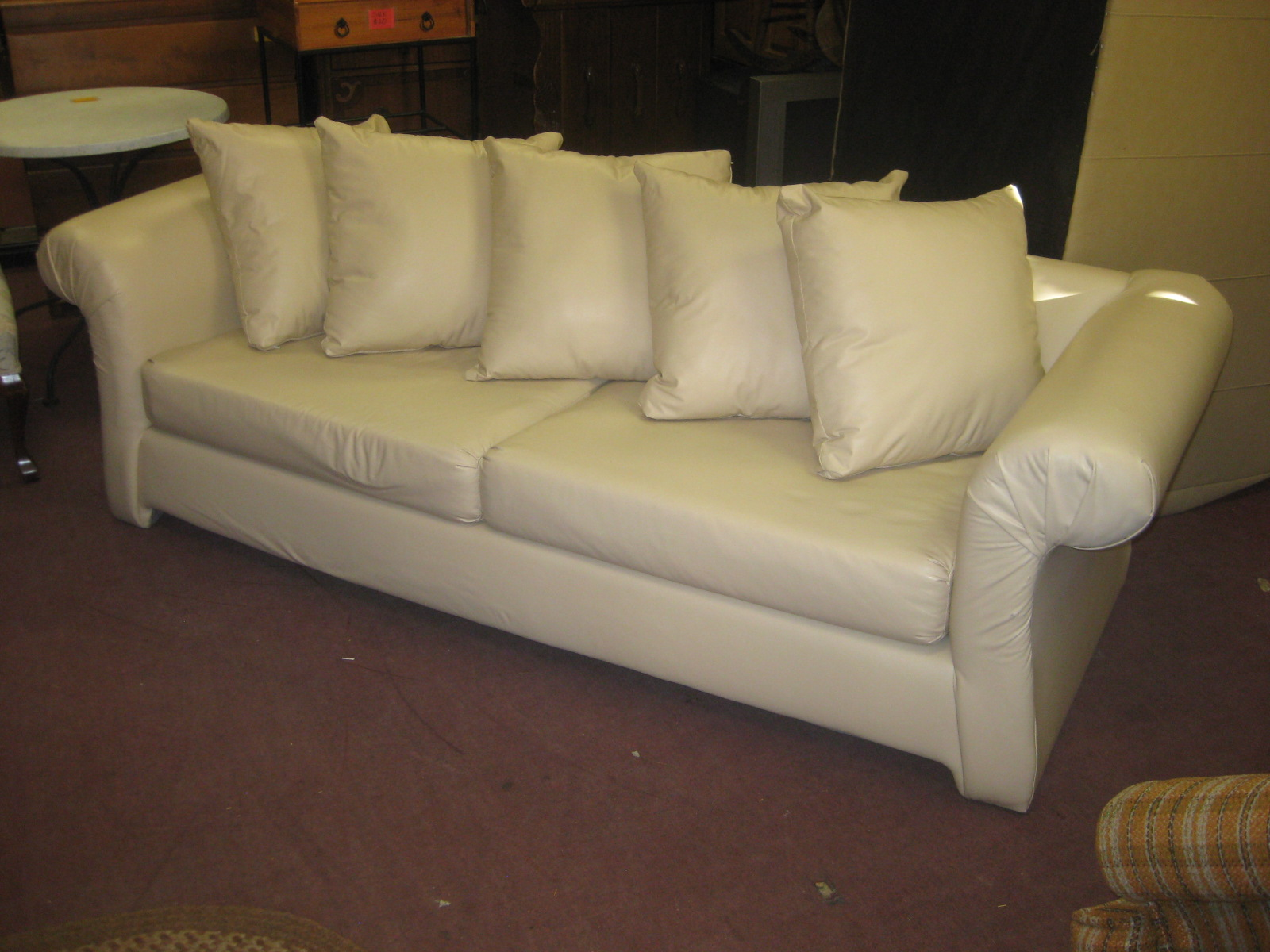 vinyl sectional sofa leather sofas london on uhuru furniture and collectibles sold 150
