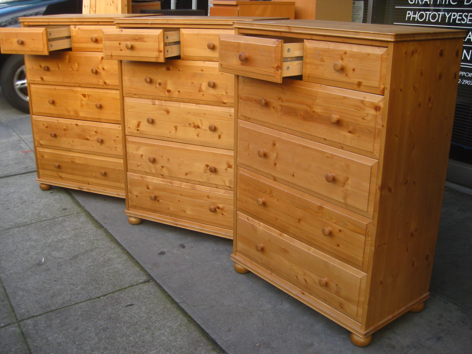 cheap dressers ikea uhuru furniture amp collectibles sold 3 pine ikea chests 11043
