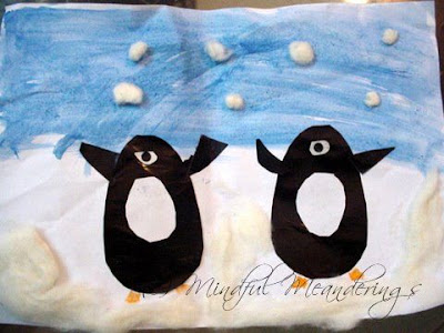 Pasting activity for kids - penguin