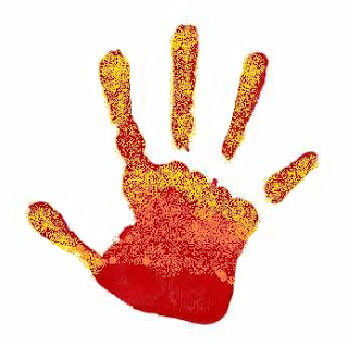 Red Handprint right