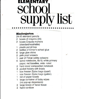 School Supply List: School Supply List Walmart