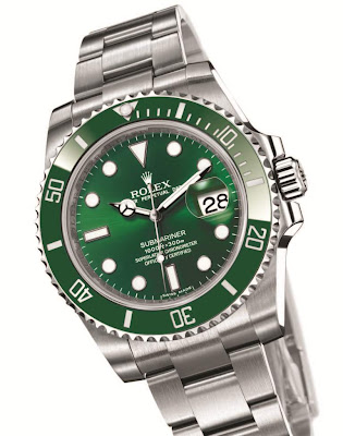 Rolex New Oyster Perpetual Submariner Date in 904L Steel with green dial and green bezel
