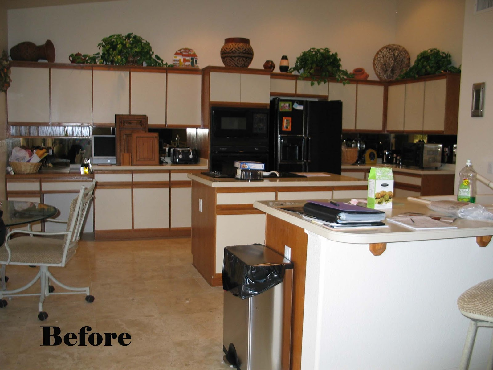 Fresh Refacing Laminate Cabinets before and after