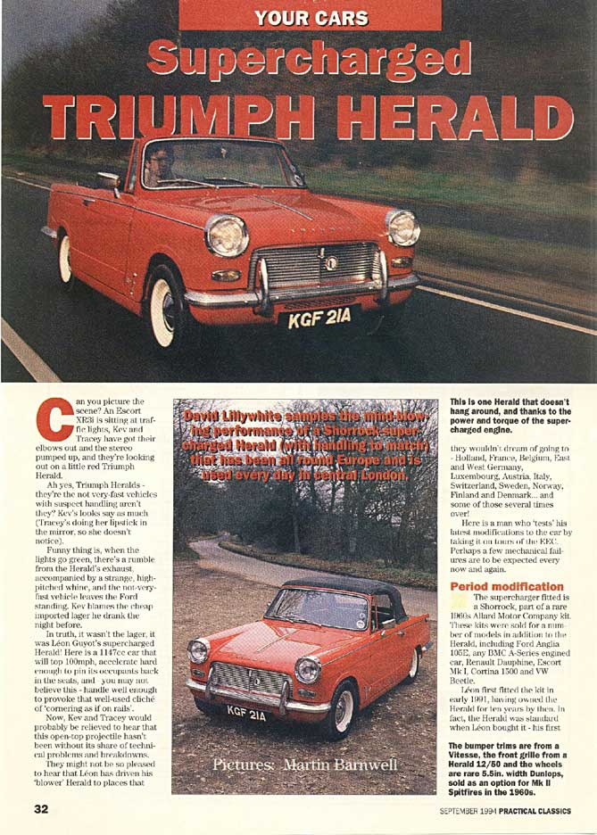 TAKE IT IN TOP!: Leon's Supercharged Herald