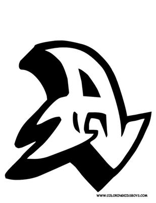 Graffiti Alphabet Sketches Letter A | New Grafiti Makmu