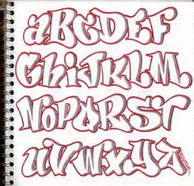 Distortclut Graffiti Alphabet A Z Design Sketches