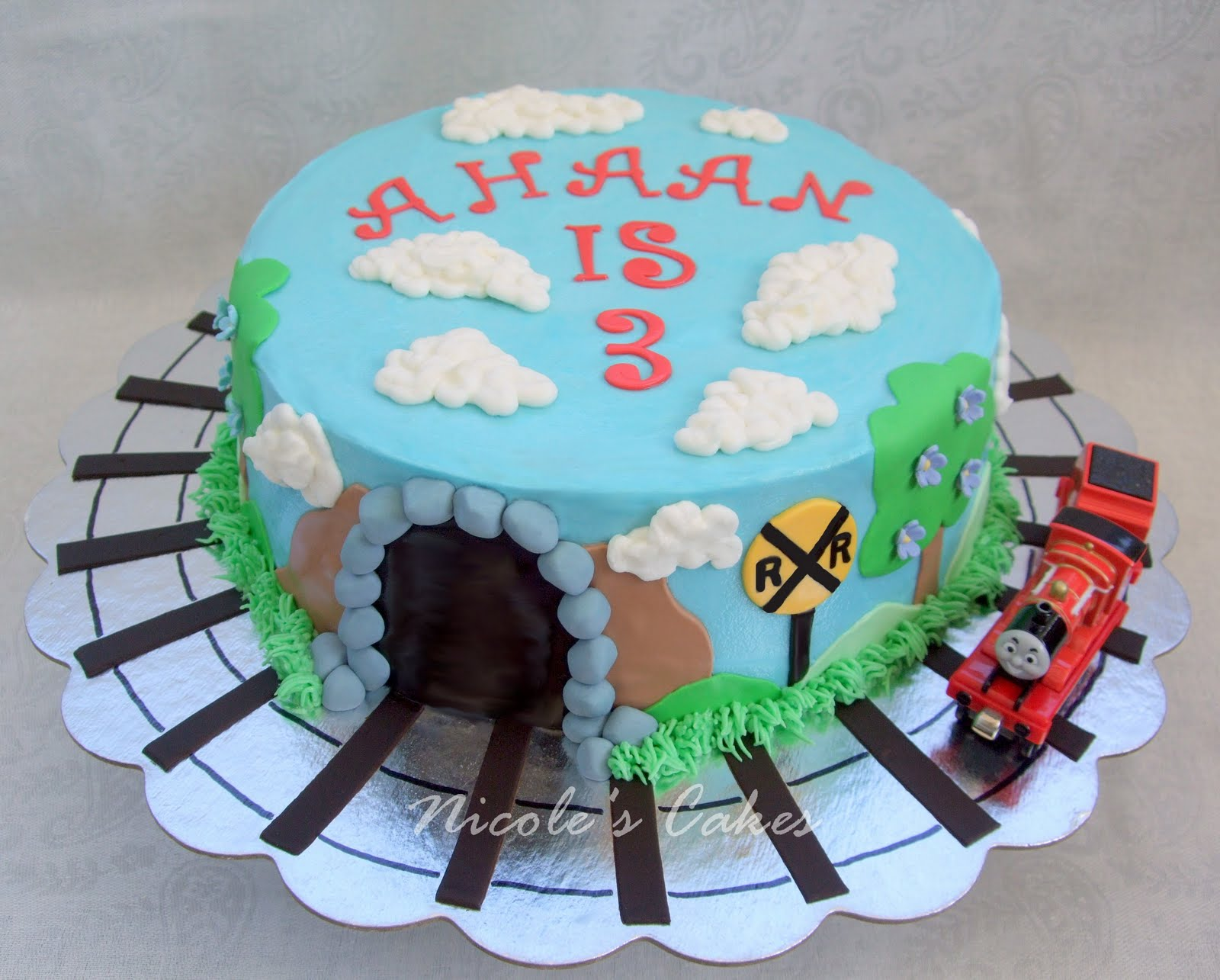On Birthday Cakes James The Red Engine Train Cake