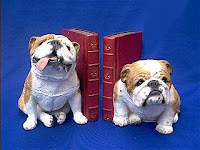 sandicast bulldog bookends figurines