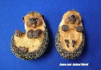 brambles clover hedgehog pot hanger figurines
